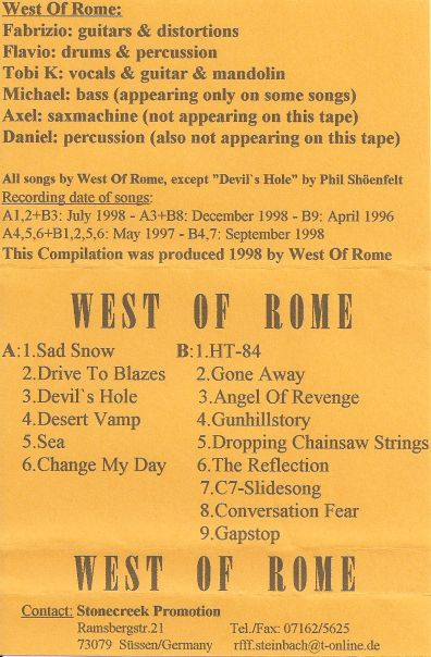 West Of Rome 2 - Back2